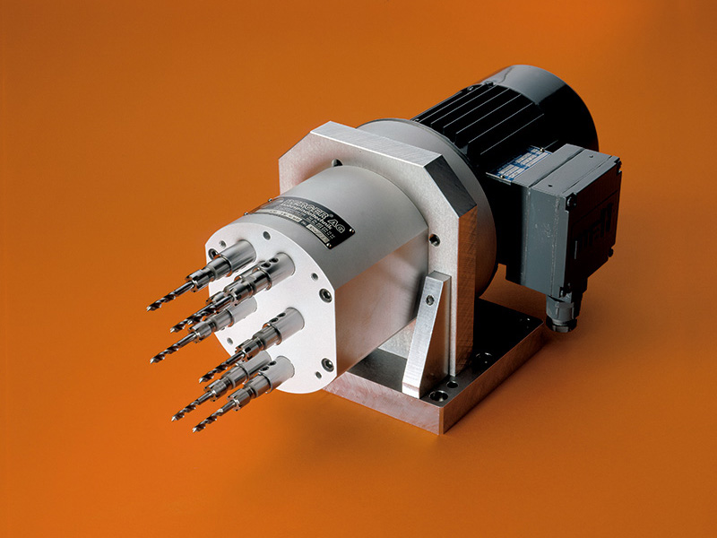 Motorized Drill Head With Quick Change